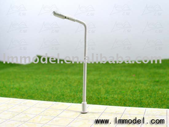 100pcs Free Shipping HO scale mdoel lamp 1/100, copper lamppost for train layout