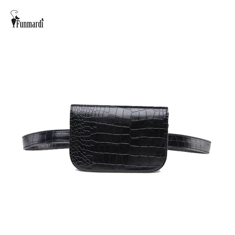 FUNMARDI New Star Style Waist Packs Classic Fashion Women Bag High Quality Leather Waist Packs Famous Brand Ladies Bags WLAM0067