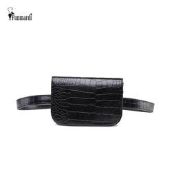 FUNMARDI Новый Для женщин поясная Классическая поясная сумка из искусственной кожи поясная сумка известный бренд поясная сумка крокодил узор Д...