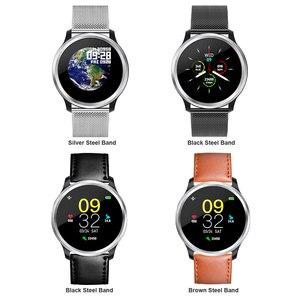 Image 5 - Наручные часы E18, водонепроницаемые Смарт часы HRV, репортаж о кровяном давлении, PPG, ECG, умные часы для Android, часы соединяющиеся со смартфоном monitor