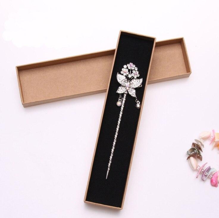 12 шт. модные черные Цвет Новый 22*5 см Jewery Организатор Box Цепочки и ожерелья хранения милый коробка большая подарочная коробка для шпилька сер...