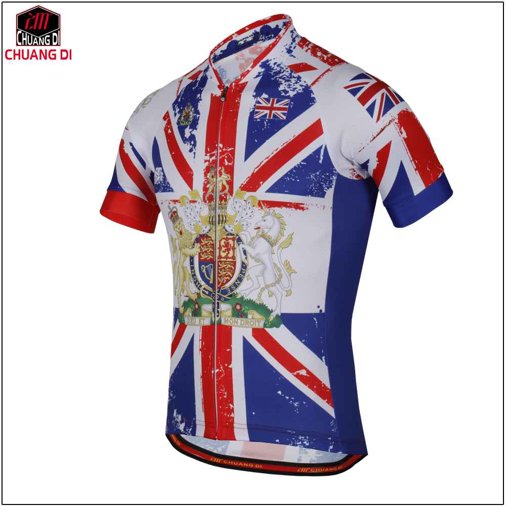 Summer Men s Great Britain State Flag cycling jerseys Short Uk National  Flag bike clothing bicycle wear ropa ciclismo-in Cycling Jerseys from Sports  ... 4e8667a5d