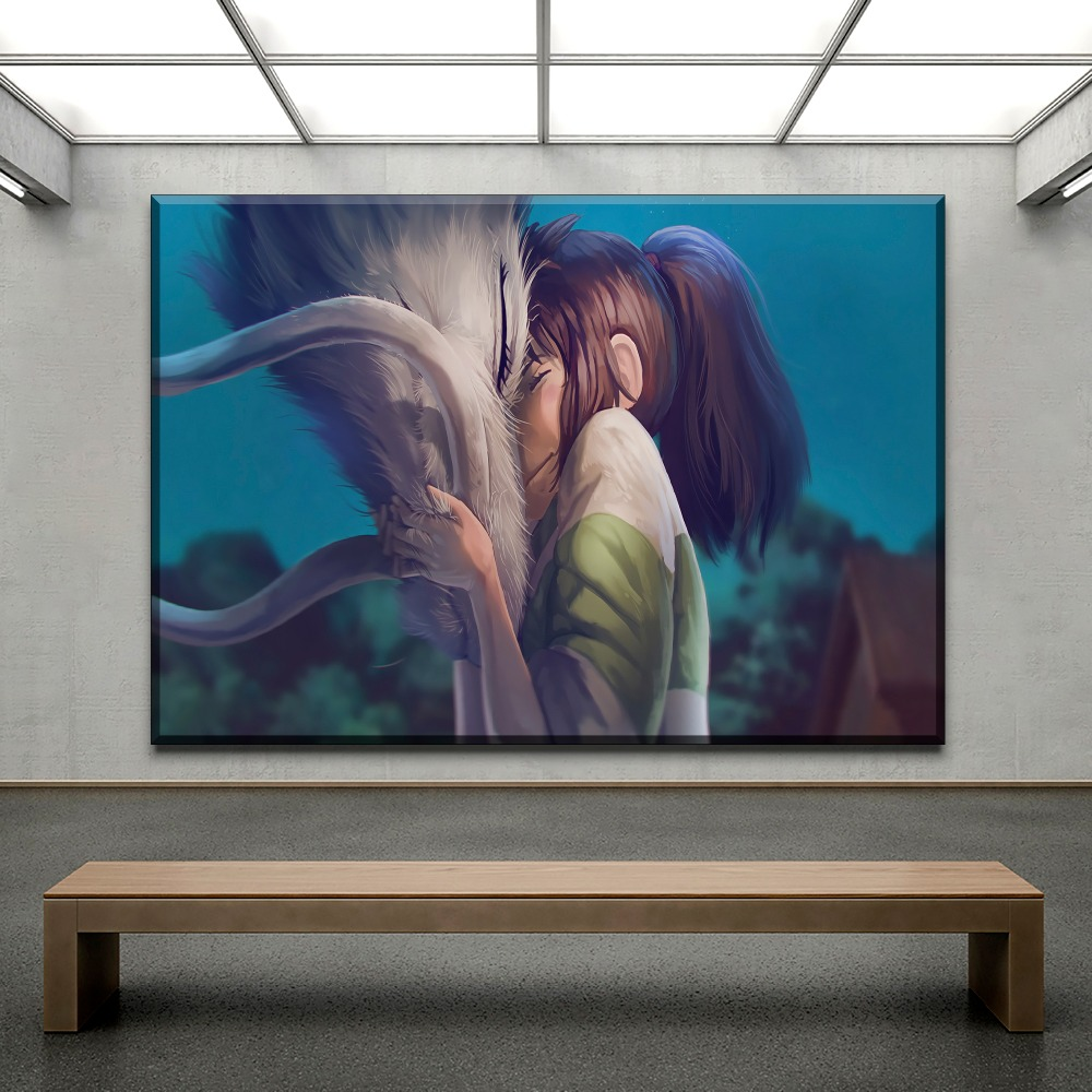 Spirited Away Anime HD Canvas Print Wall Poster Scroll Room Decor