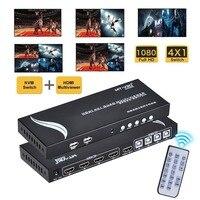 HDMI 4x1 1080 P Quad MultiViewer, с USB KM SYN для геймера, 4 режима с ИК пульт для выставочный зал/игры/конференц зал и т. д.