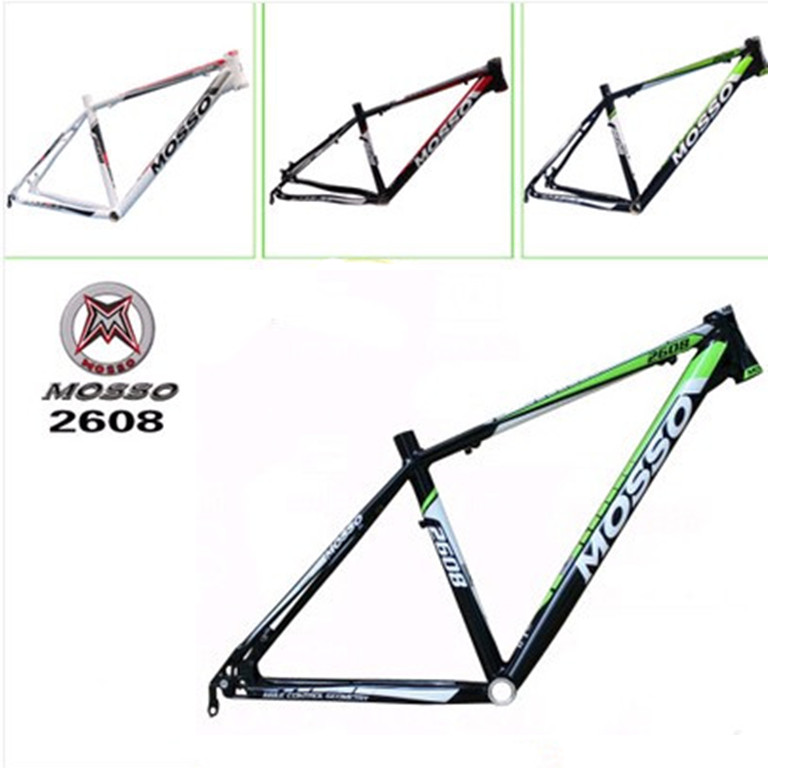 Hot bike frame MTB authentic MOSSO 2608 aluminium alloy mountain bike 26*16 17 18 inch frame mtb bike folding frame 26 aluminium folding mountain 17 inch bike frame bike suspension frame bicycle frame