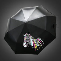 Sunny Umbrella Water Discoloration Color Changing Zebra Creative New Ultralight Female Life Necessities