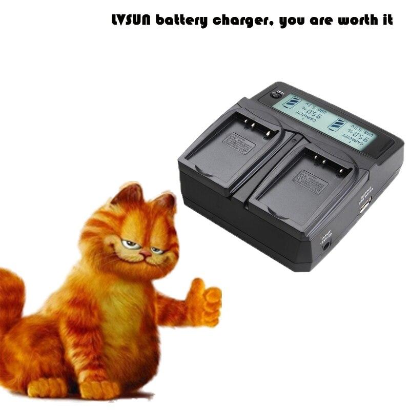 LVSUN DC&Car Universal Battery Charger with LCD for EN-EL23 EL23 Battery for NIKON CoolPix p600 S810C ENEL23 P900