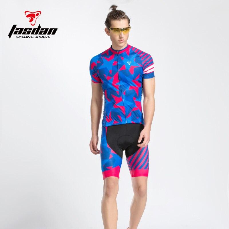 Prix pour Tasdan Vélo Vélo Vêtements de Cyclisme Cyclisme Jersey 2016 Cuissard Vélo Jersey Définit Hommes CoolMax Gel Pad
