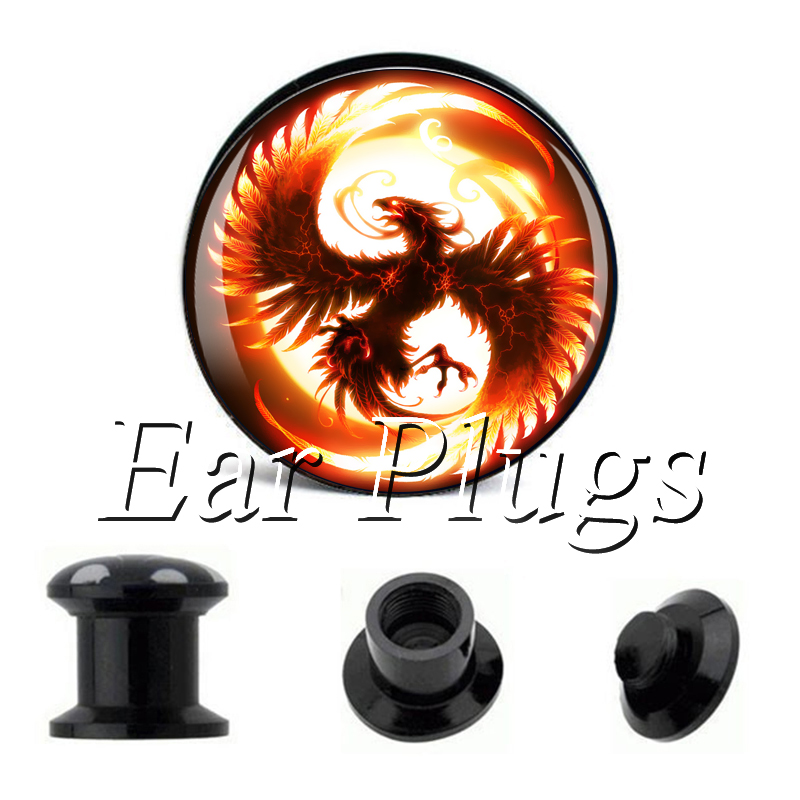 Wholesale Sun Bird plug gauges acrylic screw ear plug flesh tunnel piercing body jewelry