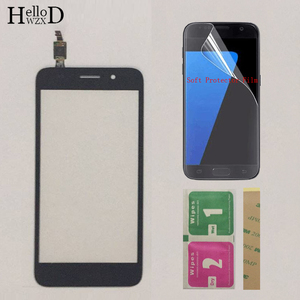 Image 2 - Touch Screen TouchScreen For Huawei Y3 2017 CRO U00 CRO L02 CRO L22 Touch Glass Front Digitizer Panel Sensor + Protector Film