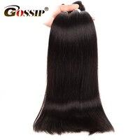 Brazilian Virgin Hair Straight Human Hair Bundles Gossip Straight Hair Bundles 10 28 Double Weft Human Hair Extension One Pc
