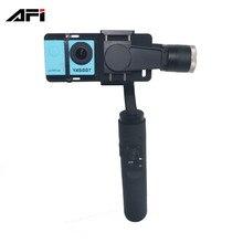Китай интернет-магазины afi V3 3 оси Ручной карданный подвес рукоятки GoPro Go Pro стабилизатор для GoPro 3 4 5 gitup Спорт действий камеры