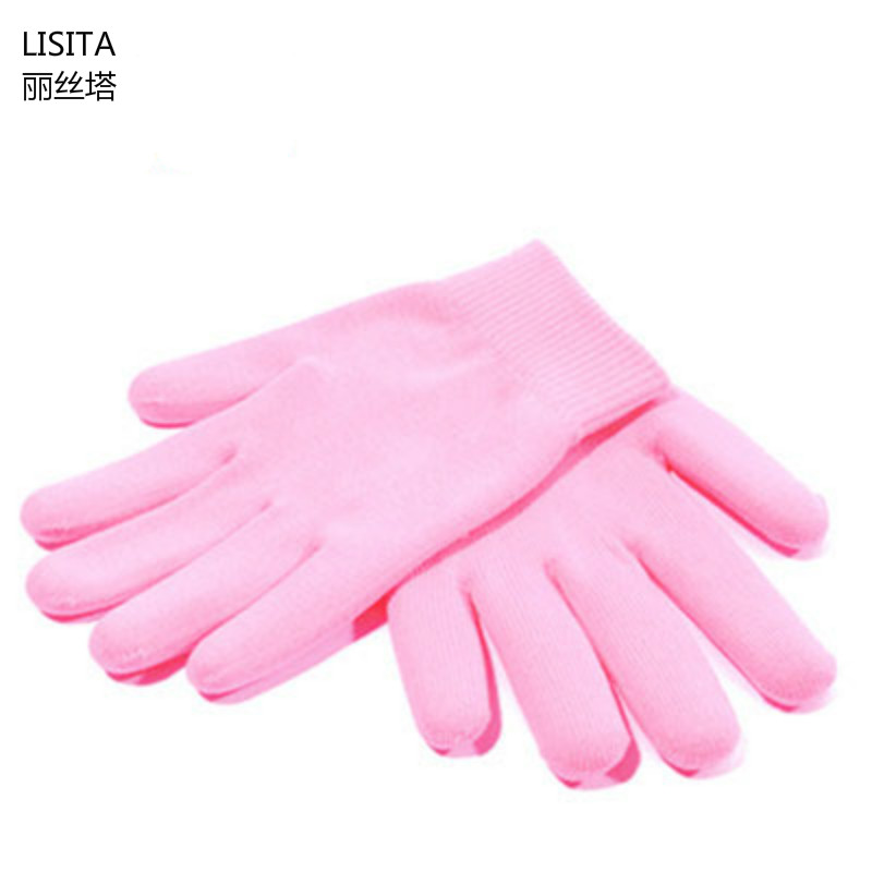 1PAIR Reusable SPA Gel Gloves Moisturizing Whitening Exfoliating Velvet Smooth Beauty Hand Care Silicone Hand Mask 2pcs