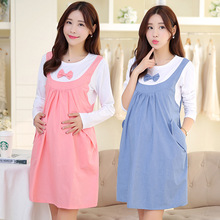 2016 Autumn Spring Casual Maternity Dresses Cotton Pregnant Women Clothes For Pregnant Women Maternity Dress Long Sleeve BB40