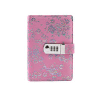 TATCAT  A6 Binder Journal with Combination Lock Travel Diary Notebook Snap Fastener diary book TPN105