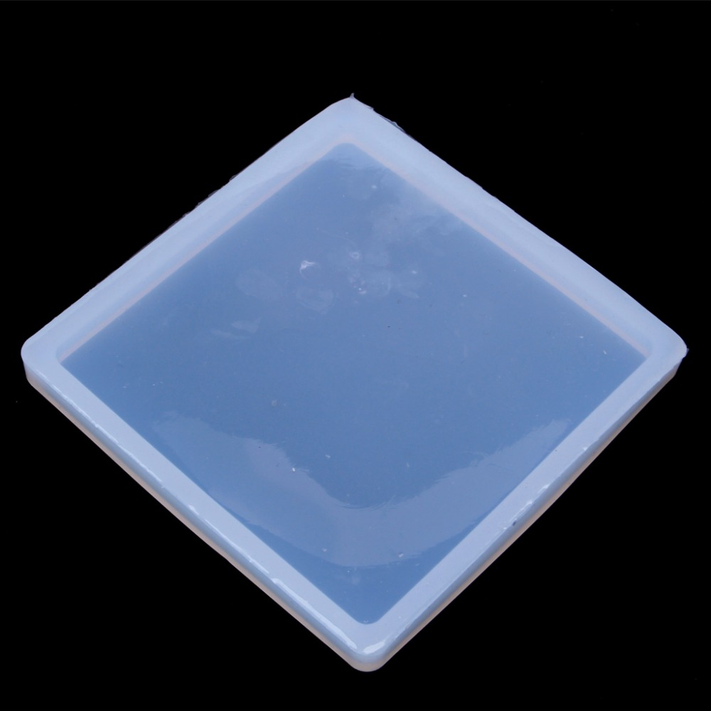 Silicone Clear Square Mold Polymer Clay Resin Casting Craft Jewelry Making Mould