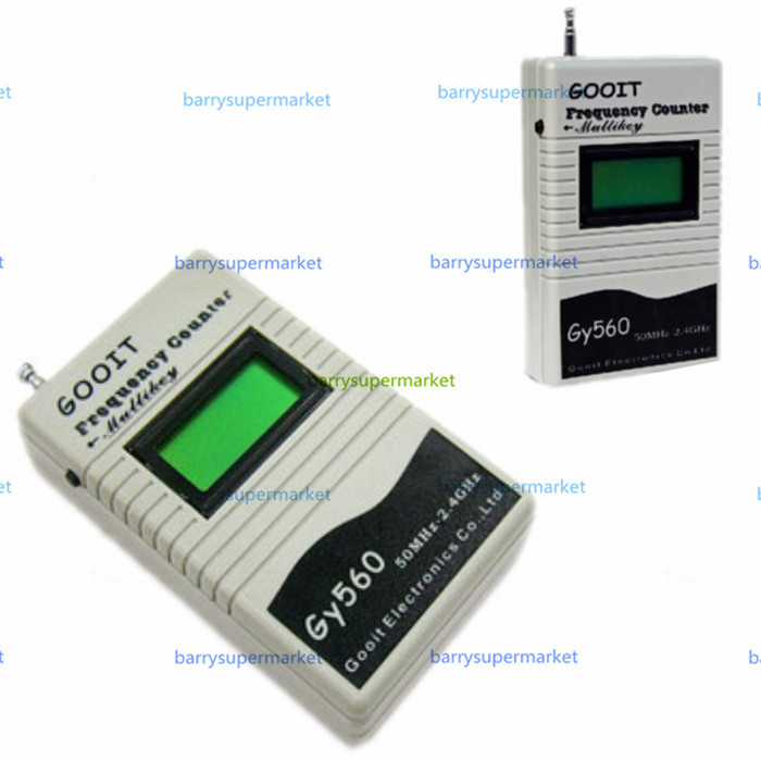 Contador medidor de frecuencia GY560 para transceptor de Radio bidireccional GSM 50 MHz-2,4 GHz pantalla LCD de 7 dígitos con medidor de señal
