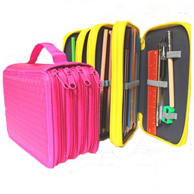 4-Layer Large-Capacity Pencil Case Colorful Kawaii Multi-Function Pen Box Office School Stationery