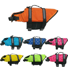 Pet Dog Life Jacket Safety Vest Collar Harness Saver Swimming Preserver Clothes Summer Swimwear