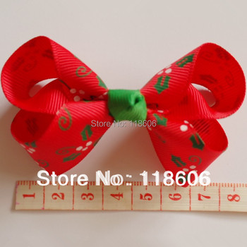 DHL Free Shipping Christmas  Hair Bow Boutique Hairbow Grosgrain Ribbon Hairbow