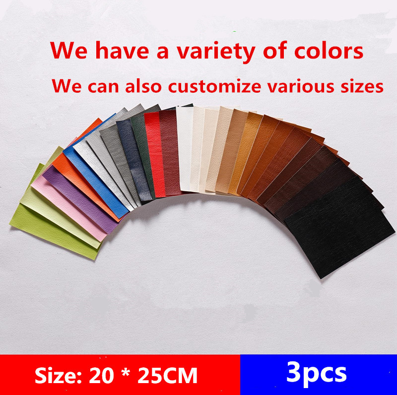 Cpam Shipping 3pcs 20x25cm Self Adhesive Leather Sticker