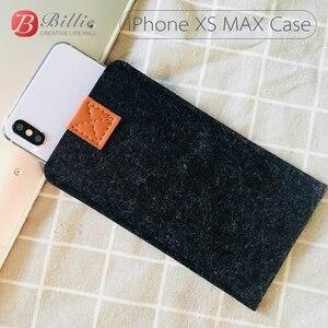 Image 2 - 전화 가방 양모 펠트 봉투 지갑 케이스 가방 아이폰 xs 케이스 커버 휴대 전화 수제 가방 아이폰 xs 최대 6.5 인치 그레이