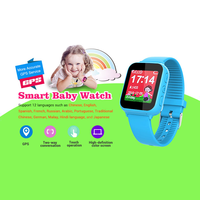 Fansaco Bluetooth Smart Watch Waterproof GPS Kids Smartwatch Touched Screen For IOS Android Chidren Smartwatch With SOS Calls
