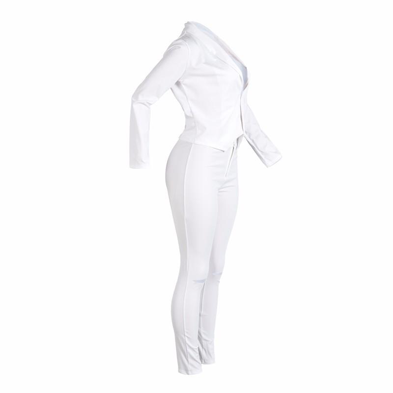 women white pants suits set -5