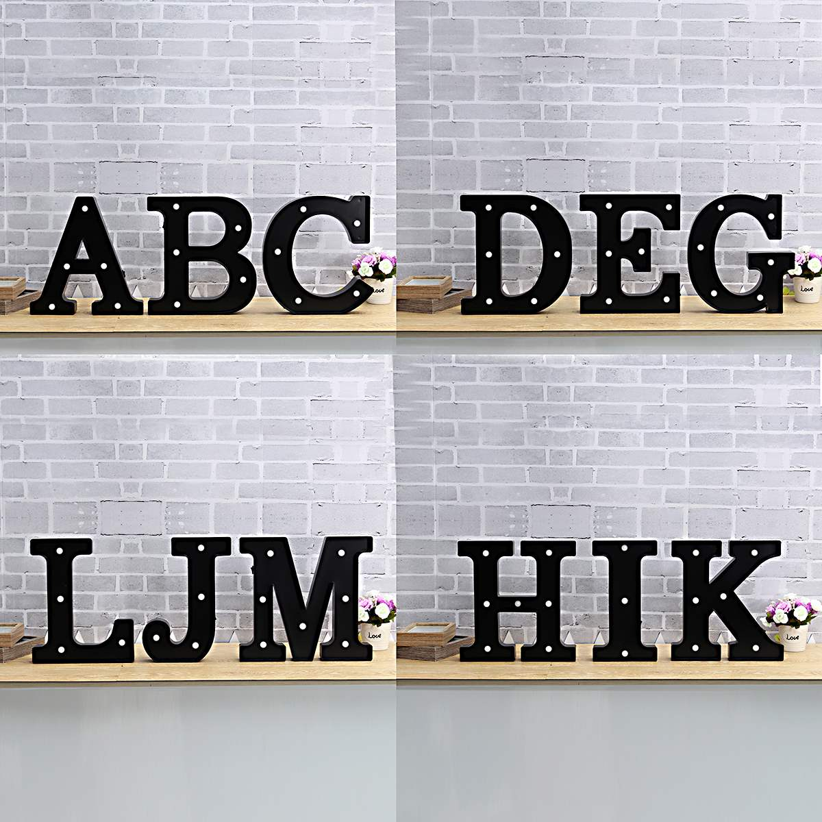 Hot Sale LED Night Light Lamp Kids Marquee Letter Light Vintage Alphabet Circus Style Light Up Christmas Decor Lamp White 12Inch best price led night light lamp kids marquee letter light vintage alphabet circus style light up christmas lamp white 12inch