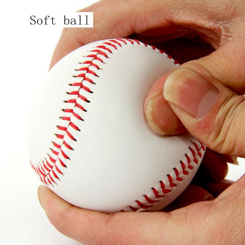 1PCS  Ball Baseball Practice Training PVC Softball Hardball Hand Sewing Sport Team Game 9 Inches 7.3cm