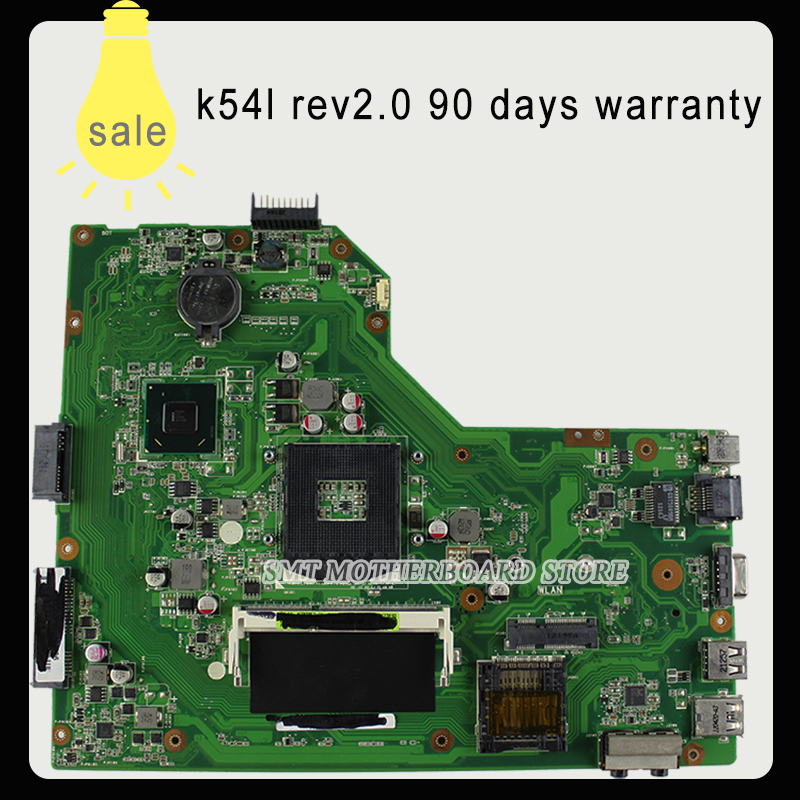K54L Rev: 2.0 laptop motherboard For ASUS K54L X54L X54H, DDR3 rPGA989 test and free shipping