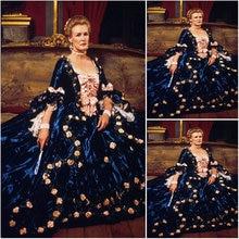 Книги по истории! клиент-сделанные luxs синий Винтаж костюмы Ренессанс Платья для женщин стимпанк платье Готический Косплэй Хэллоуин Платья для женщин c-1114