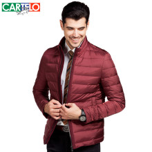 CARTELO Brand Casual Thick Coat New Winter Warm Parka Slim Thin Duck Down Jacket Coat with Collar for Men High-End