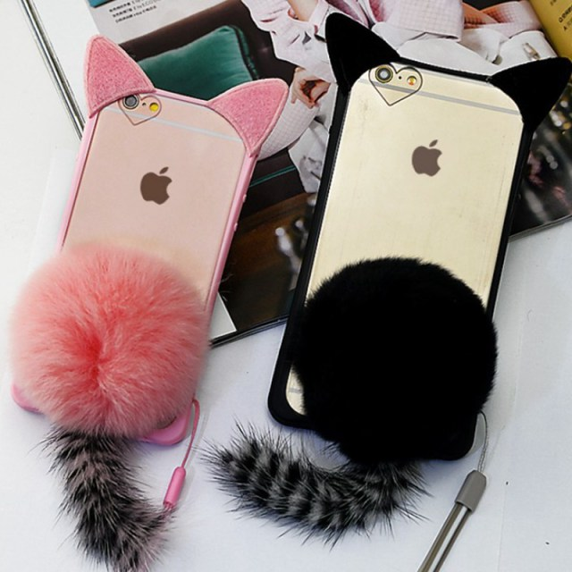 coque iphone 8 plus fourrure lapin
