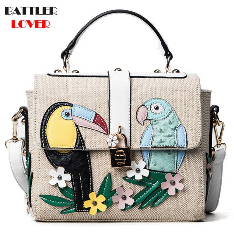 c9aaa68ff79 Summer Bird Flap Bags for Women 2019 Bags Women Handbag Bolsa Feminina  Shoulder Messenger Bag Luxury Design Handbags Ladies Bag