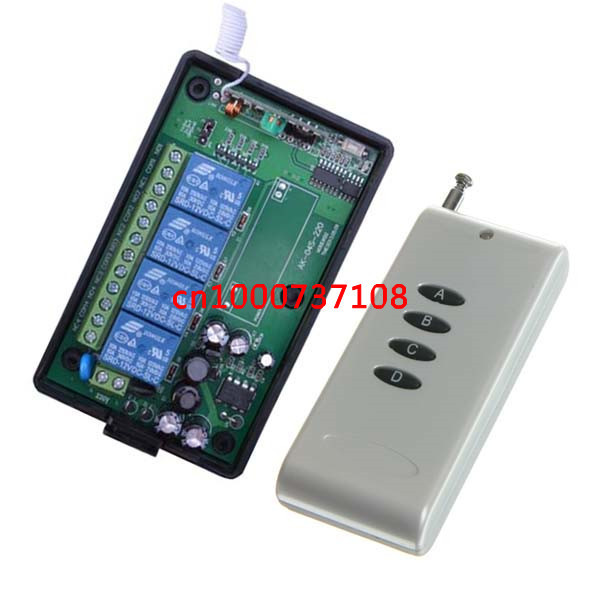 AC110V 220V 4CH Household appliances remote control switch rf wireless 315mhz remote light switch and power control wall switch ac 250v 20a normal close 60c temperature control switch bimetal thermostat