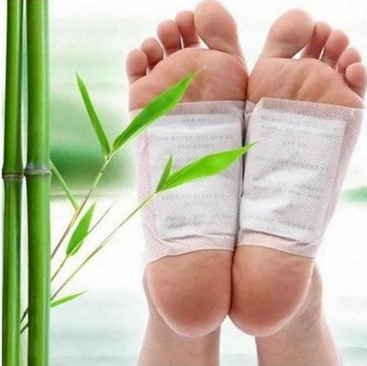 20pcs = (10pcs แพทช์ + 10pcs กาว) kinoki Detox Foot Patches Body สารพิษฟุต Slimming Cleansing Herbal กาว