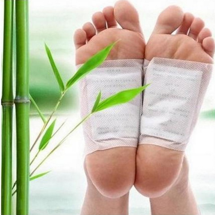 20pcs=(10pcs Patches+10pcs Adhesives) Kinoki Detox Foot Patches Pads Body Toxins Feet Slimming Cleansing Herbal Adhesive Patch