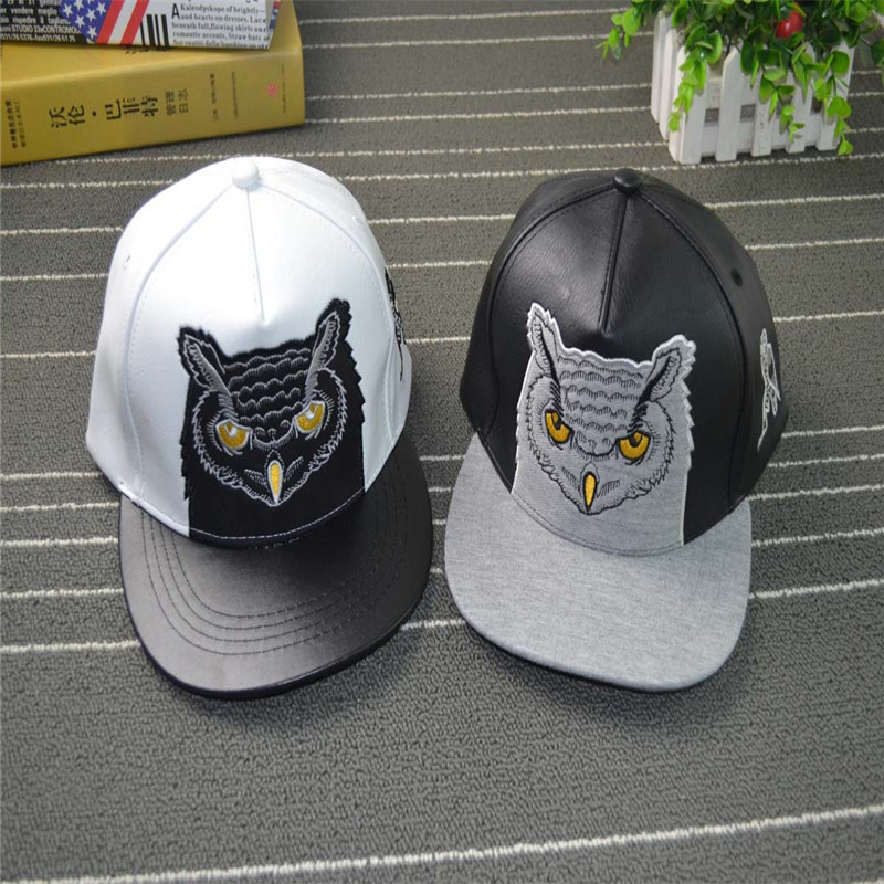 Male Ms. embroidery Spring and autumn owl flat Street Dance Hip-Hop Baseball Cap Snapback  M123