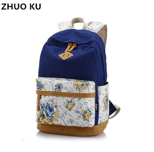 Ethnic Women School Backpack for School Teenagers Girls Vintage Stylish School Bag Ladies Backpack Female Back Pack High Quality