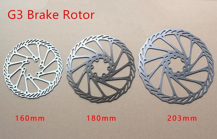 Greaked Mountain Bike Rotors Disque flottant 160 mm//180 mm//203 mm avec vis UN Bleu 160 mm.