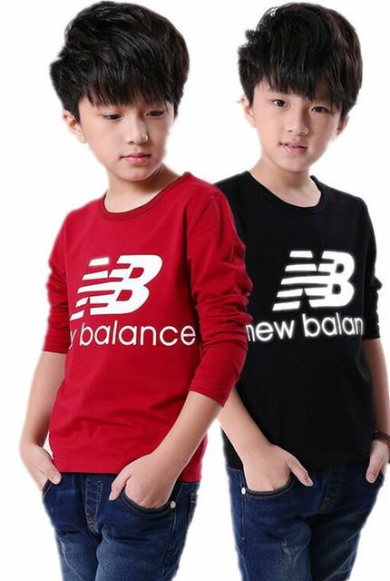 2015 meninos crianças de algodão rodada long neck-sleeved T-shirt meninos roupas crianças t camisas dos miúdos