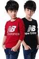 2015 muchachos de los niños de algodón cuello redondo de manga larga T-shirt ropa de los muchachos camisetas niños
