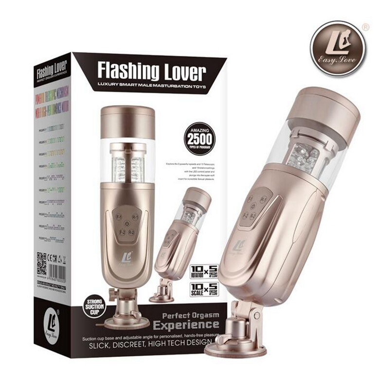 Easy Love Telescopic Lover 2 Electric Automatic Sex Machine Rotating Retractable Male Masturbators Hands Free Sex Toys for Men