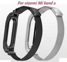 YIFALIAN watchband For Xiaomi Mi Band 2 Metal Wrist Strap Milanese Belt Miband Bracelet Wristband