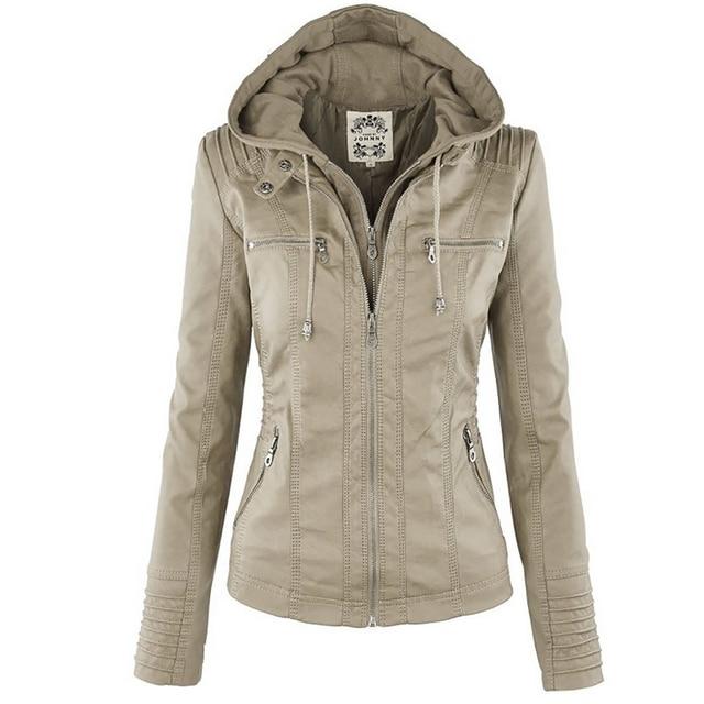 Winter Faux Leather Jacket Waterproof Windproof Coats 4
