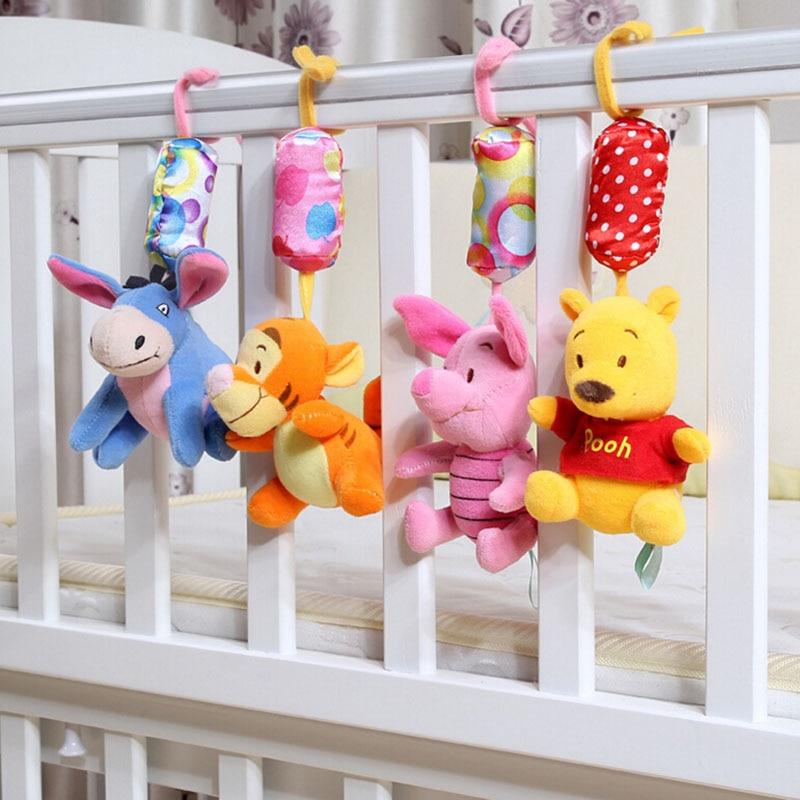 Baby Rattles 1pcs/set Newborn toys baby stroller toy Winnie cartoon baby bed rattle bebe brinquedo baby plush toys