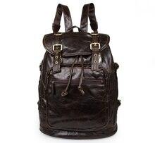 Maxdo vintage genuine leather men backpacks high quality men travel bags duffel bag male backpack laptop backpack #MD-J6085