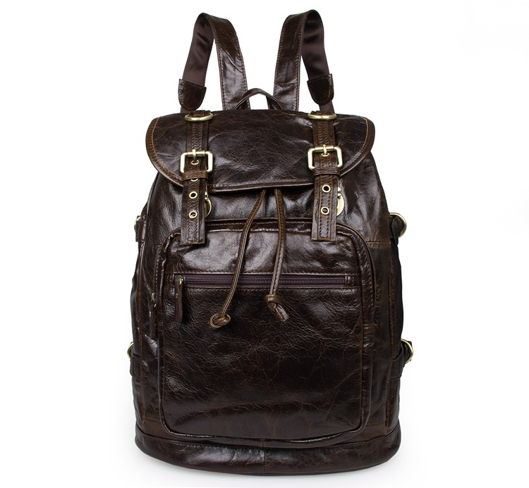 Vintage genuine leather men backpacks high quality men travel bags duffel bag male backpack laptop backpack
