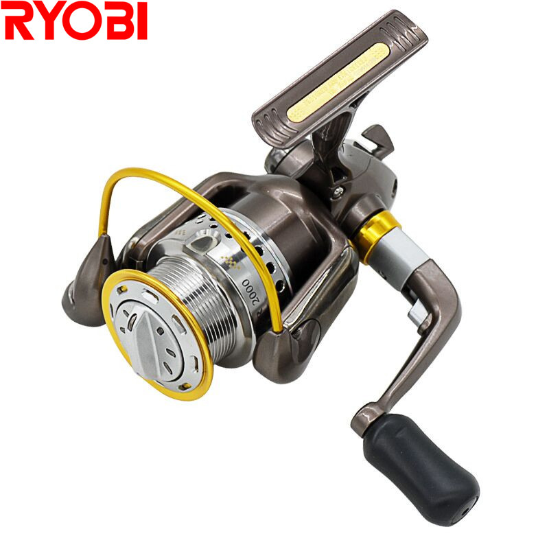 цена на RYOBI ZAUBER1000 Spinning Fishing Reel 5.0:1/8BB Drag Power 2.5kg Metal Carretilha Moulinet Peche Carretes Para Lure Pesca